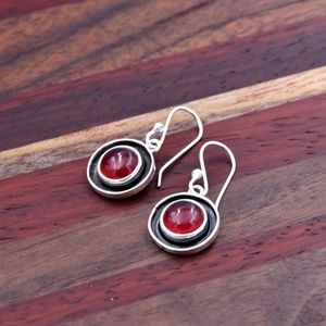 ‼️Clearance‼️925 Red Quartz Earrings